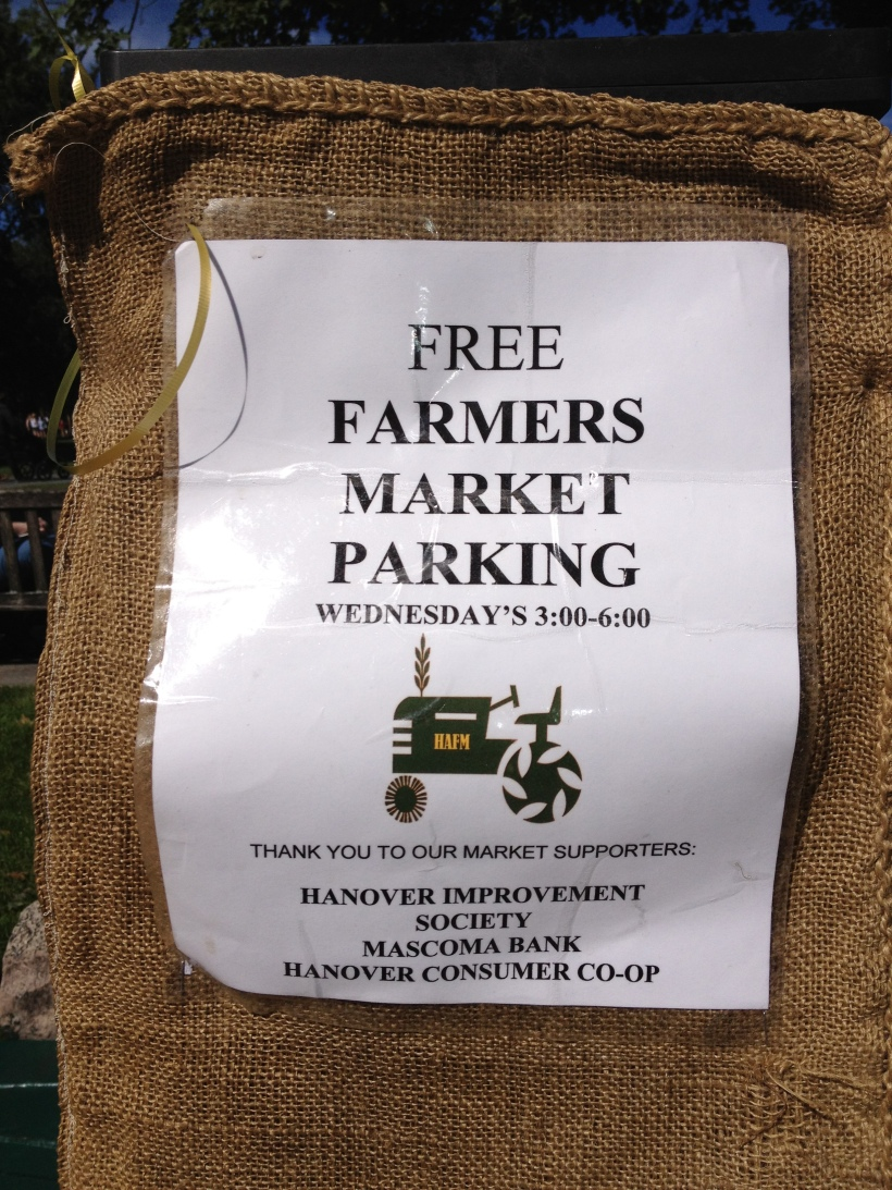 Free parking for the Farmers' market in Hanover on Wednesdays.