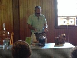 Sandor Katz and a vat of homemade blueberry soda.